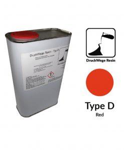 Druckwege Type-D red resin, SLA resin