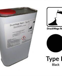 Druckwege Type-D black resin, SLA resin