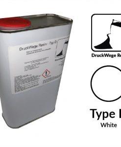 Druckwege Type-D white resin, SLA resin